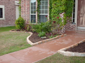 Landscape design c saw residential construction tree for Landscaping rocks dallas